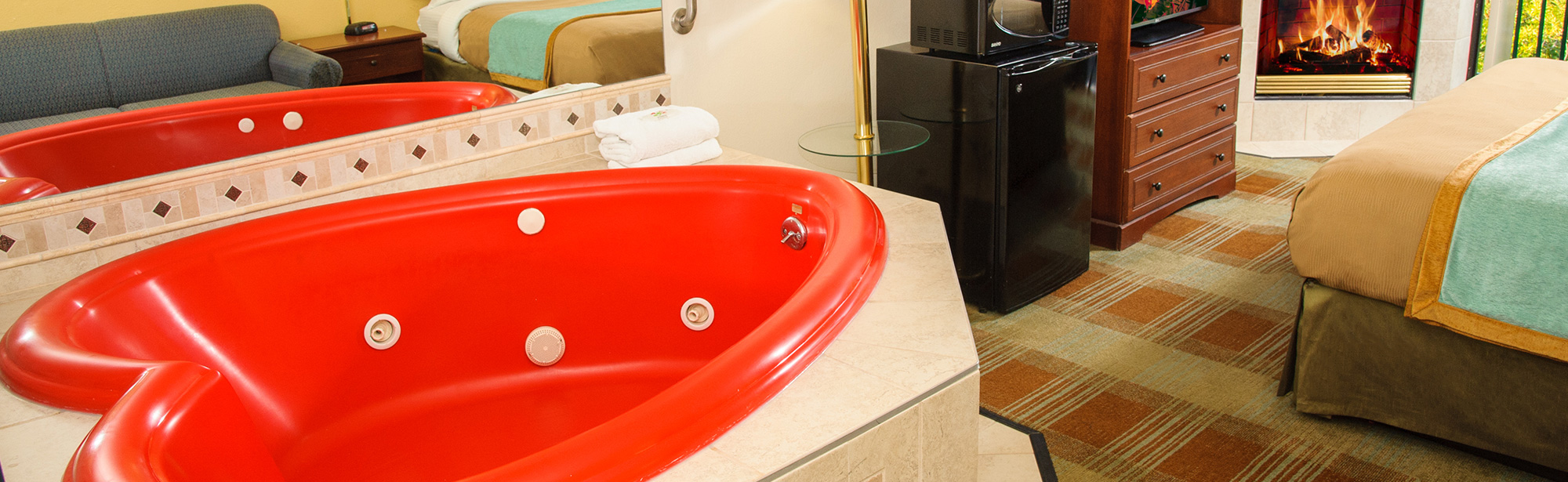 Red Heart shaped Jacuzzi
