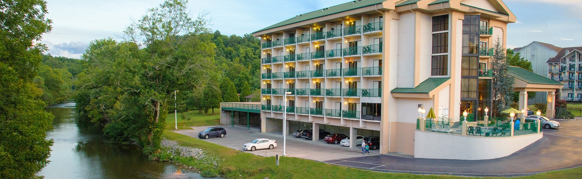 Hotel next to Pigeon River